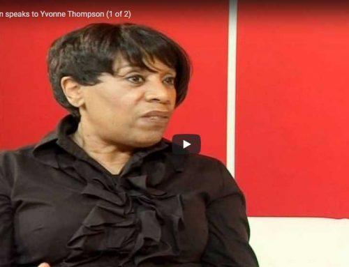 Rhoda Wilson speaks to Yvonne Thompson (1 of 2)